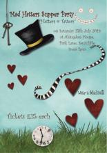 Poster for Mad Hatters Supper Party