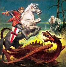 St George slays the dragon